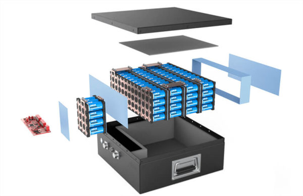 Lithium battery structure