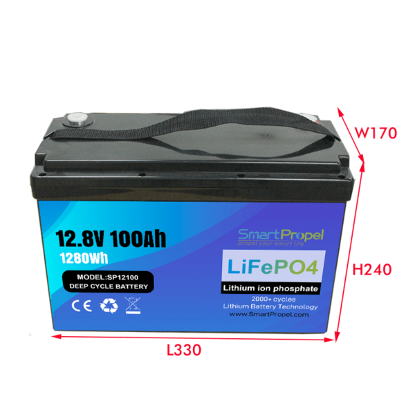 12V 100Ah battery pack for energy storage