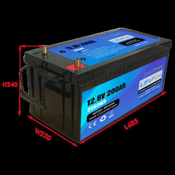 12V 200Ah lithium battery pack