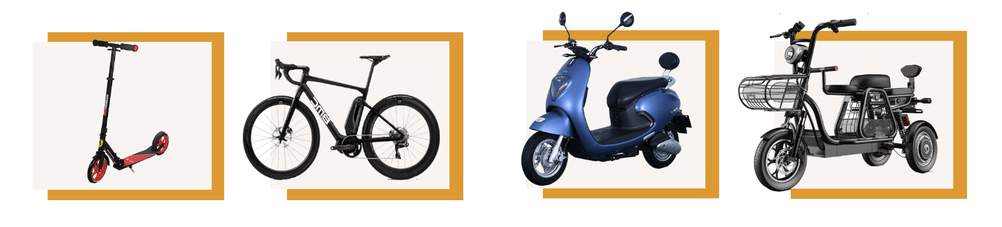 Ebike Scooter Motorcycle Tricycle 2 wheeler vehicle