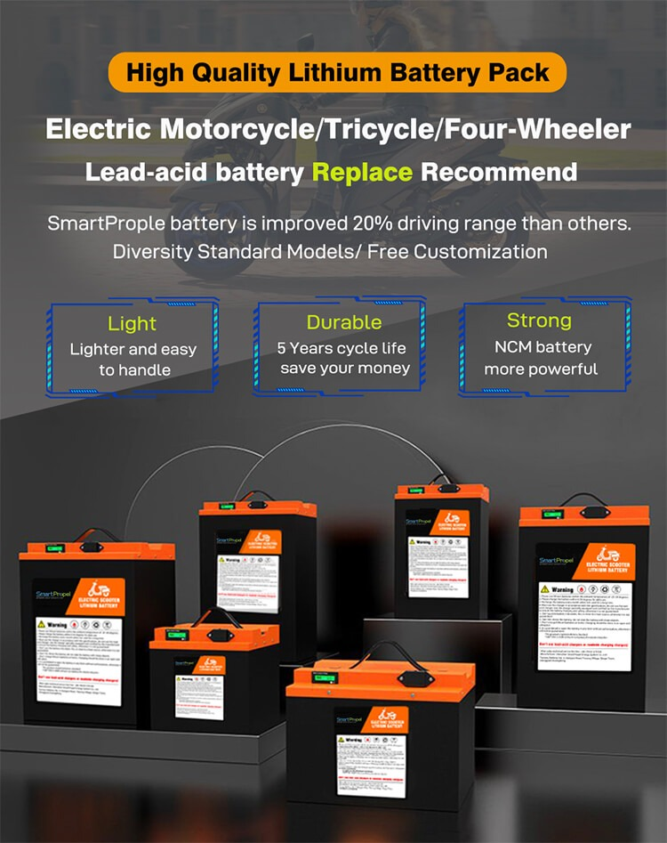 Motorcycle lithium battery application
