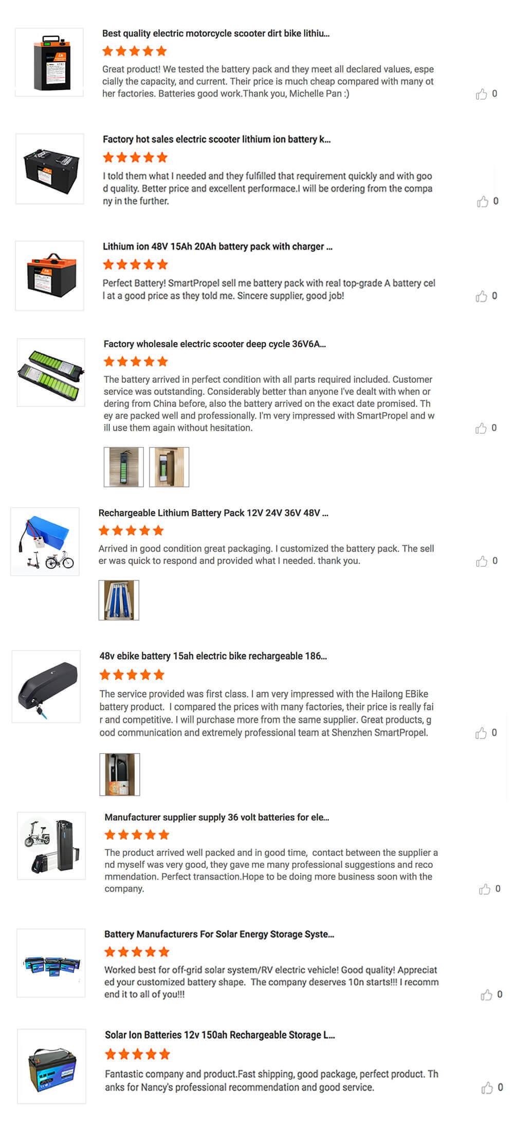lithium battery customer reviews