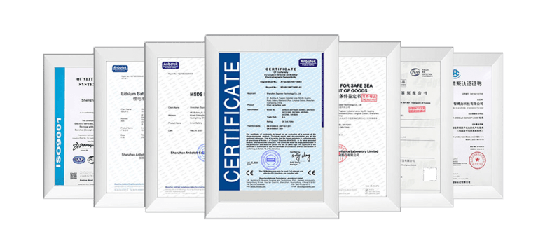 lithium battery certification
