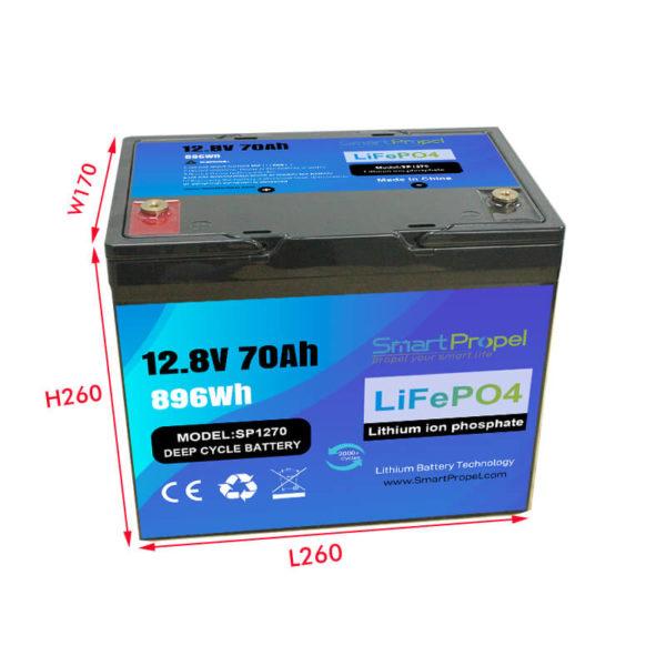 12V 70Ah battery