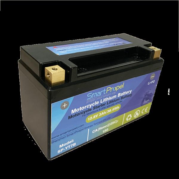 YT7B lithium starter battery