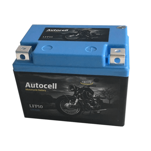 blue color motorcycle battery