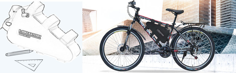 Triangle Type Electric Bicycle Lithium Battery application