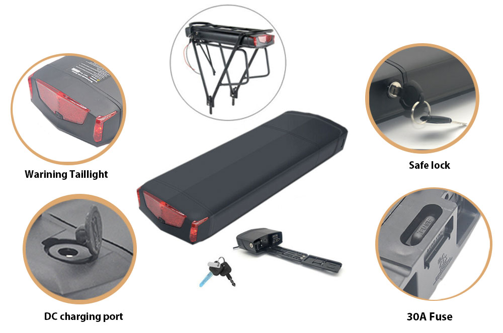 Ray Type Ebike Battery details