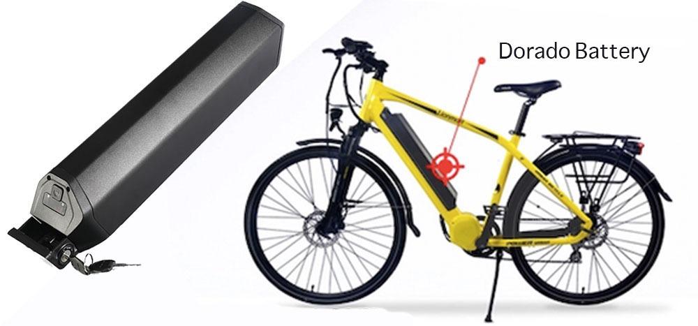 Dorado hidden Down Tube type Ebike Lithium Battery Application