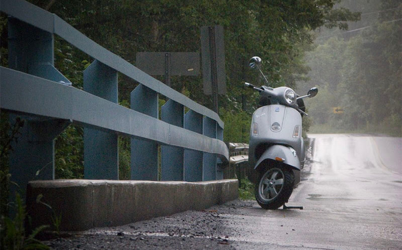 Scooter Battery in rain 1